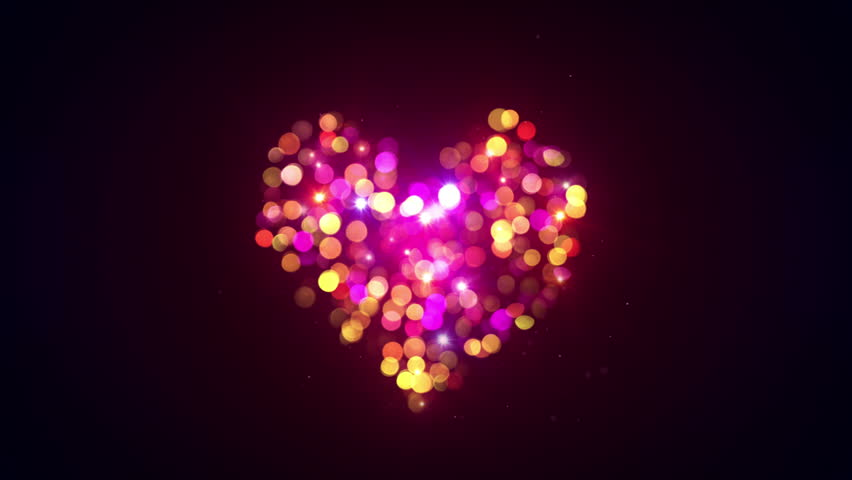 Bokeh Heart Shape Of Light Background Stock Footage Video: Fireworks Stock Footage Video 3073723