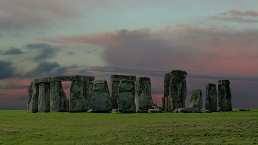 Stonehenge with cloud time lapse. N4