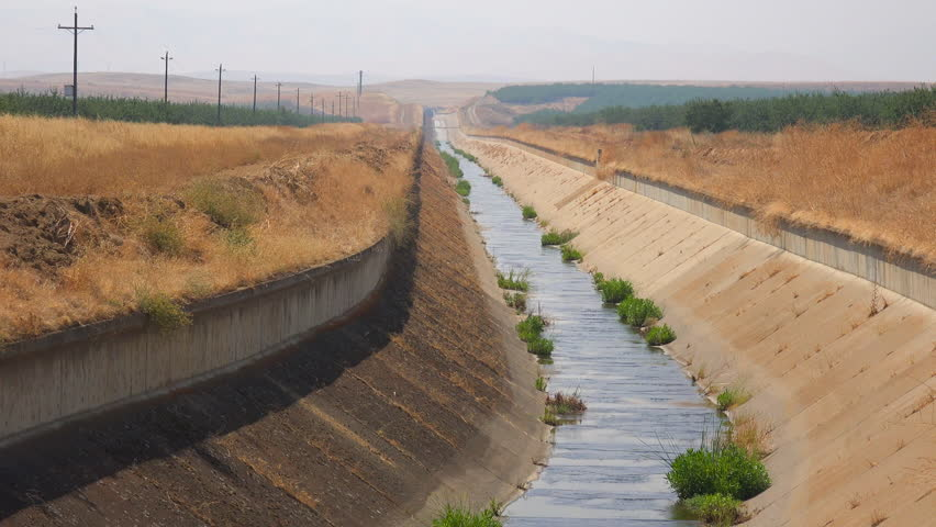 CALIFORNIA - CIRCA 2015 - Irrigation canals are dry in California during a drought.