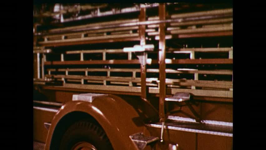 UNITED STATES 1950s : Man ascends firetruck - HD stock video clip