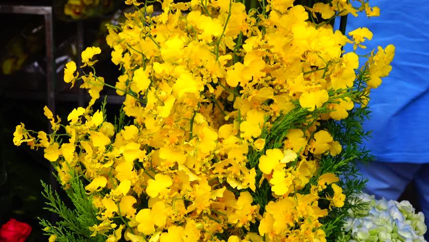 HO CHI MINH, VIETNAM - 2015 yellowf orchids  | Shutterstock HD Video #13713098
