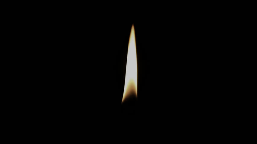 Candle Flame Alpha Channel - HD stock video clip