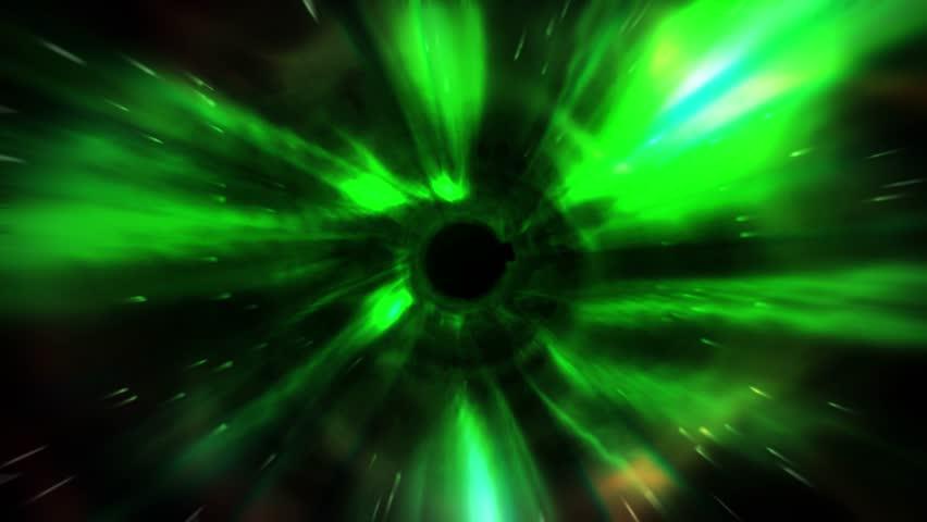 Animation Tunnel Of Flash Green Light Represent Warp Zone ...