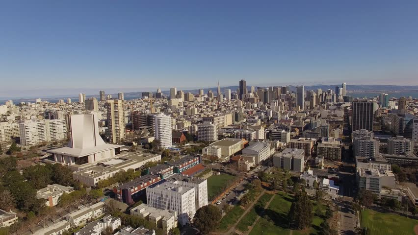 Aerial shooting street San Francisco with Downtown on a background | Shutterstock HD Video #13846865
