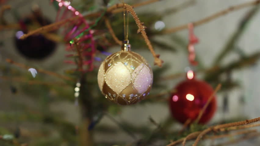Admirable Christmas Balls On Christmas Tree Stock Footage Video 3025588 Easy Diy Christmas Decorations Tissureus