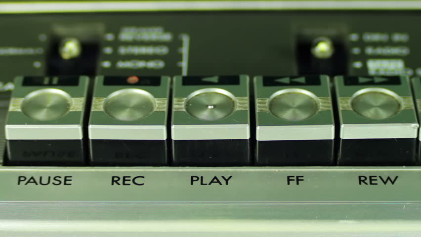 Pushing Button on a Tape Recorder, Play, Stop, Rec, ff, Rew, Pause | Shutterstock HD Video #13894826