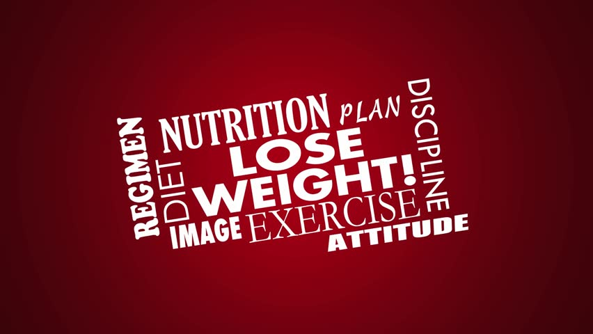 Lose Weight Diet Exercise Word Collage Animation | Shutterstock HD Video #13923914