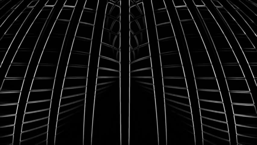 White 3d lines rotating in space on a black background. Contrasty outlined look. Version 11 | Shutterstock HD Video #13941428