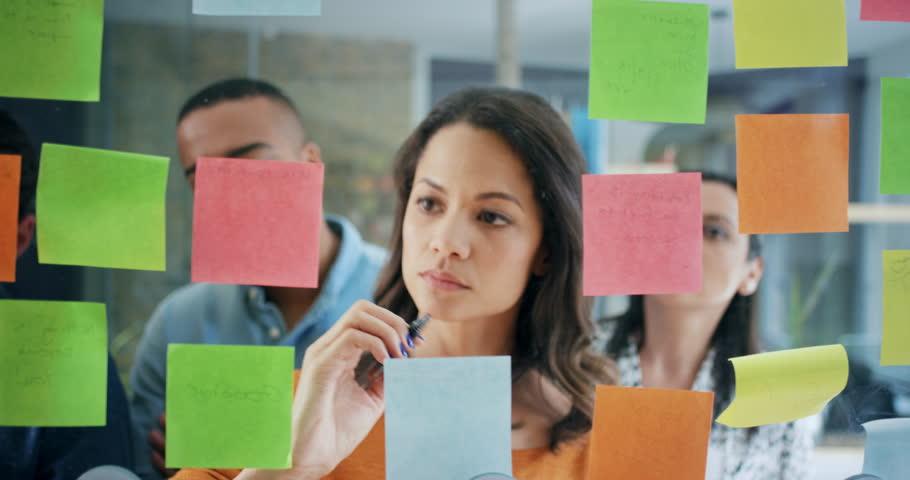 Creative business team brainstorming ideas...