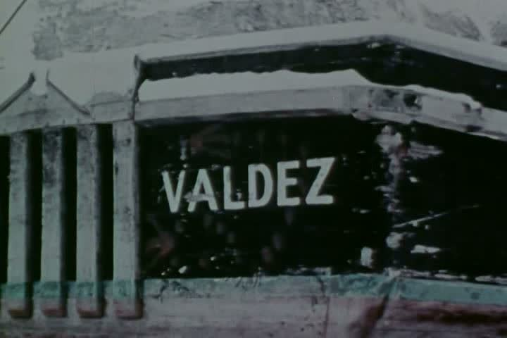 CIRCA 1970s - Cargo is transported from Valdez to Prudhoe Bay, Alaska in the 1970s. - SD stock video clip