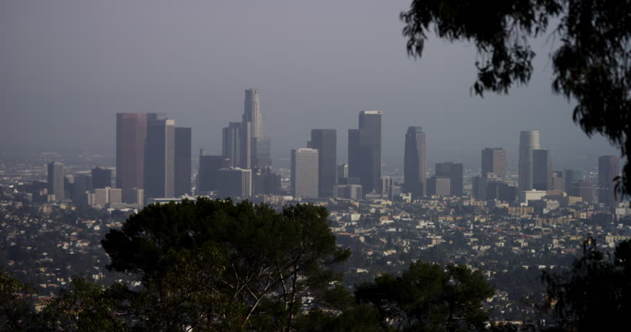 4K Los Angeles cityscape skyline, static. Shot with RED DRAGON in 4K DCI native resolution. | Shutterstock HD Video #13974305