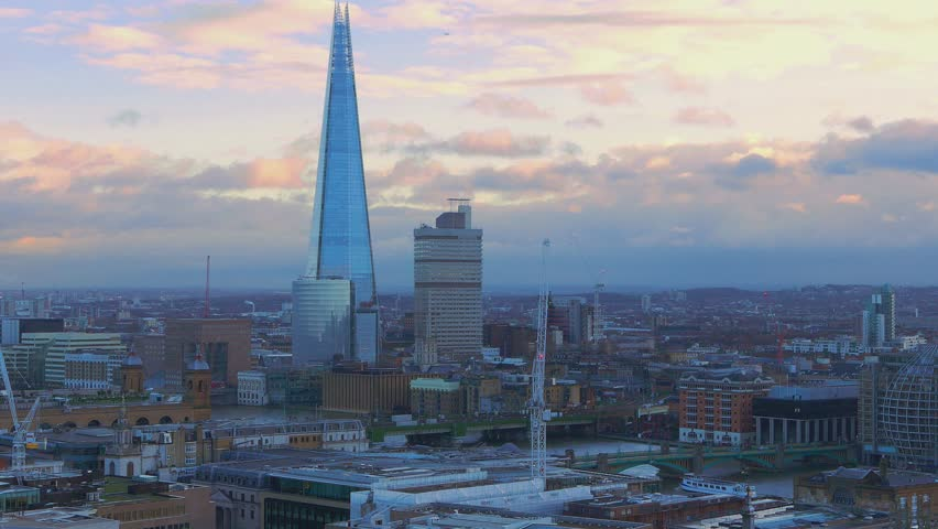 London aerial view in the evening  16th january 2016   Shutterstock HD Video #14131247