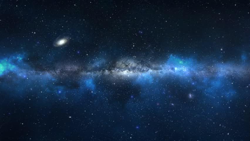 Space Flight Through Nebula. Seamless Loop. Stock Footage ...