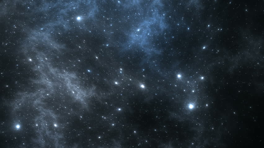 Looping Space Flight Through A Galaxy Stock Footage Video ...