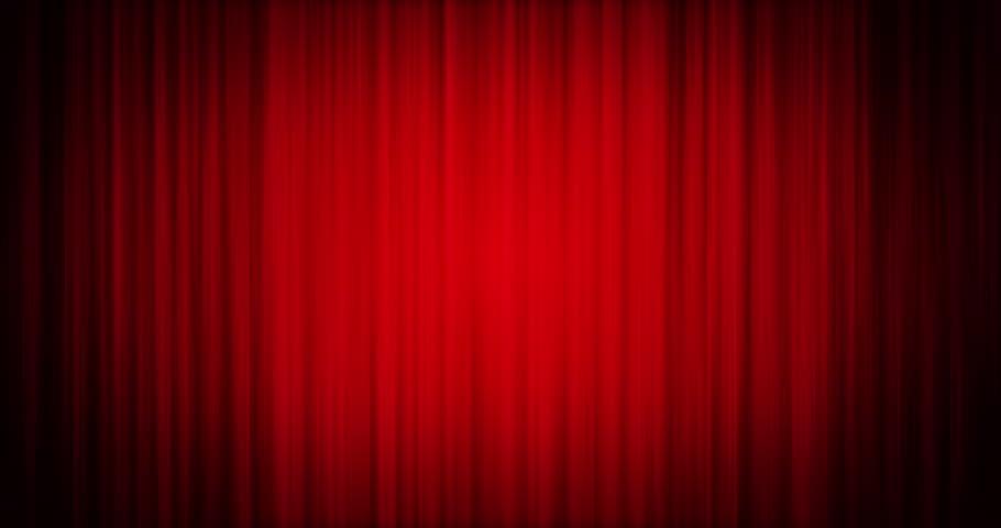 Red velvet curtains video stock footage for Velvet curtains background