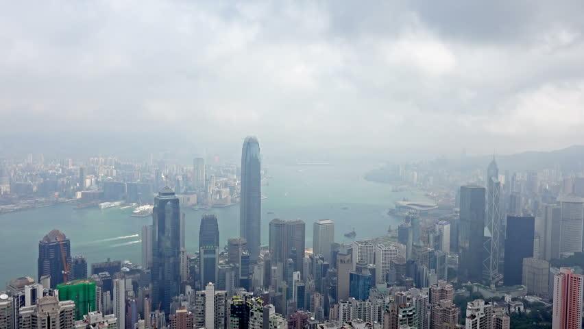 4K Aerial Timelapse of Hong Kong from the Peak. 4K Ultra HD 3840x2160 Video Clip | Shutterstock HD Video #14228159