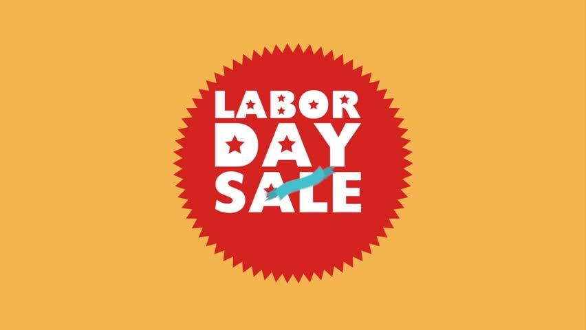 Labor day sale design, Video Animation