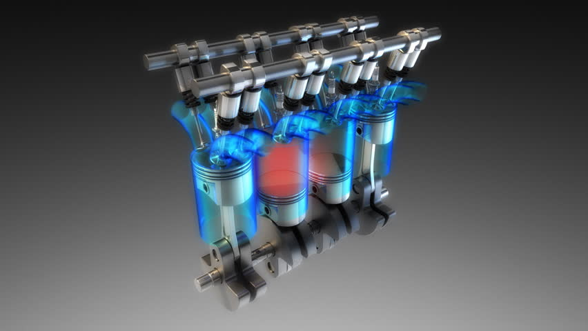 3d car engine visualization. Loop.
