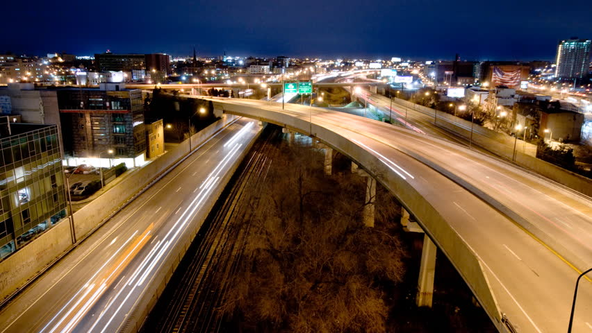 Philadelphia traffic time lapse - HD stock footage clip