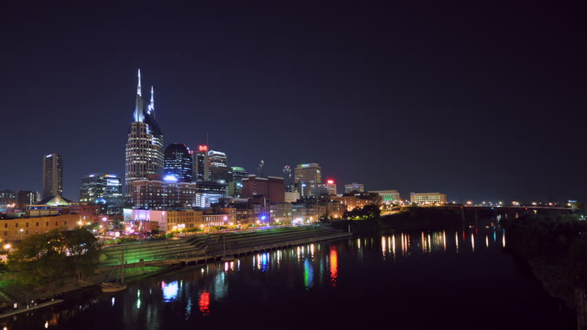 Nashville, TN skyline timelapse