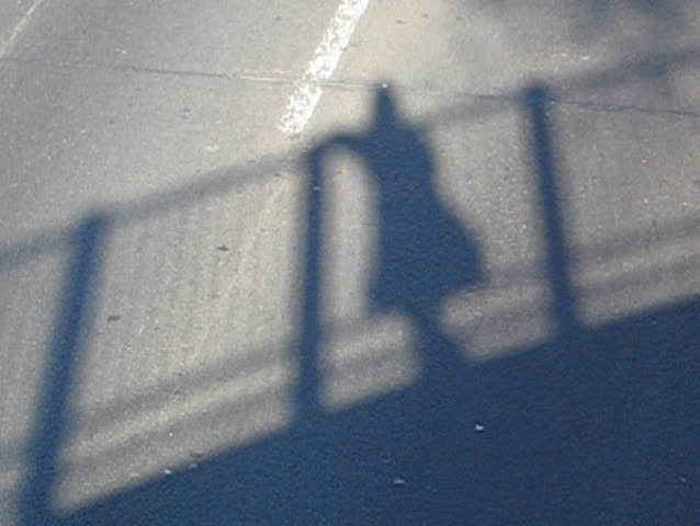 my shadow on the bqe brooklyn highway - SD stock video clip