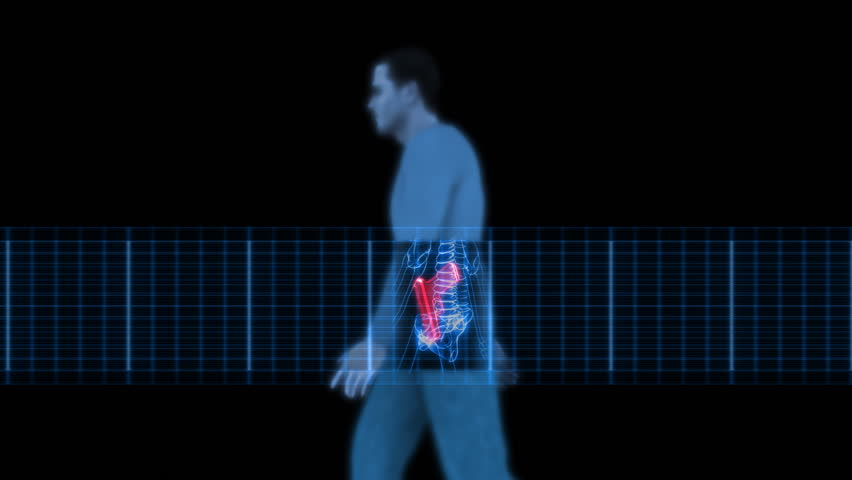 Security X-Ray Scanner - Man with Gun