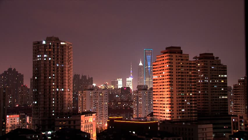 Skyline view of Shanghai. | Shutterstock HD Video #1768991