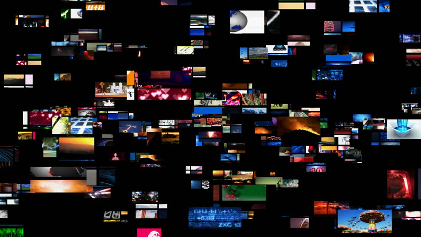 Video Wall Media Streaming HD - HD stock video clip