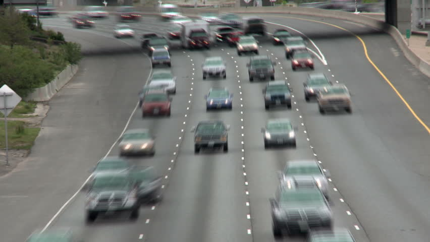 DENVER, CO - CIRCA 2011: Traffic on the highway. | Shutterstock HD Video #1792004