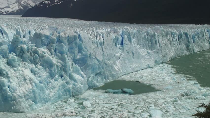 """static shot"""", stationary View Of Iceberg Under Day Light, Perito Moreno Glacier - HD stock video clip"""