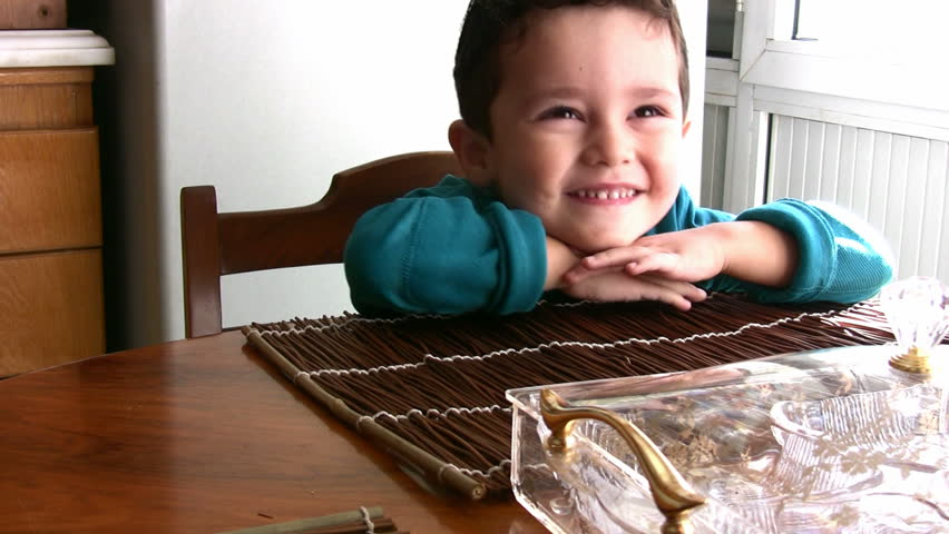 Little Boy and his  yummy chocolate chip cookies - HD stock video clip