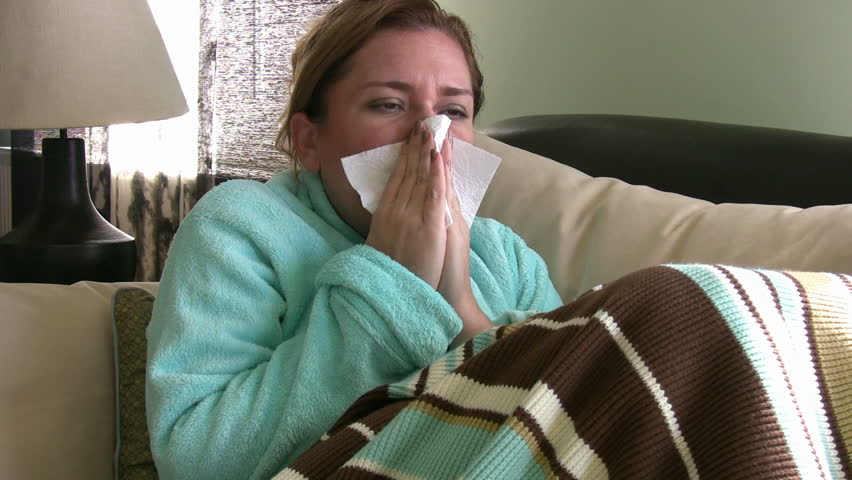Young Woman Sneezing - HD stock video clip