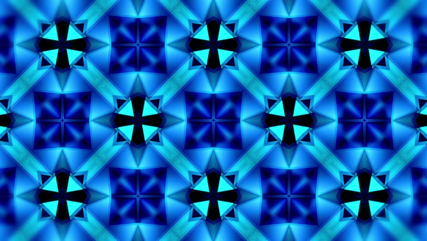 Color Kaleidoscope - Blue - Many - 3