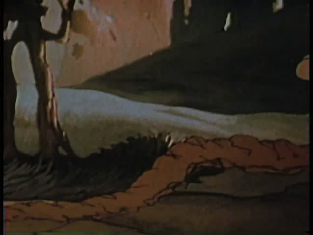Cartoon of gopher burrowing underground - SD stock video clip