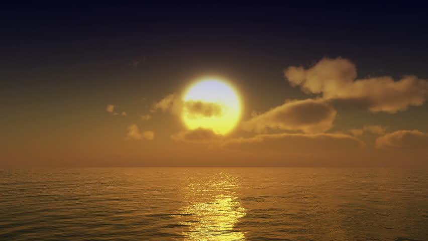sunset over ocean #18548357