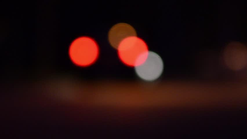 Lights from car headlights walk down the street their journey at night 1  | Shutterstock HD Video #18705200