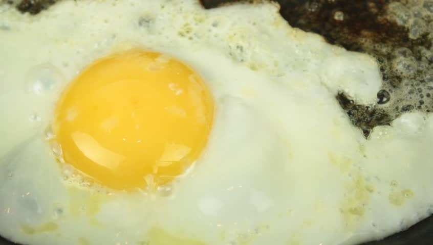 Fried egg. video with sound - HD stock footage clip