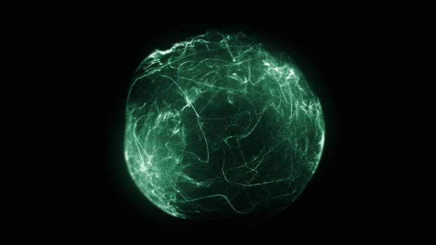 Fancy shield of energy in a dark background - HD stock video clip