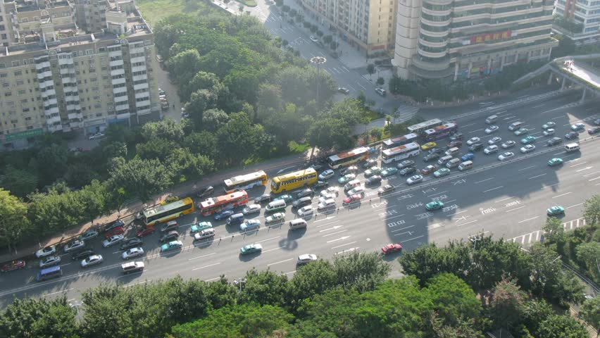 On highway in bottleneck traffic jam was formed, time lapse - HD stock video clip