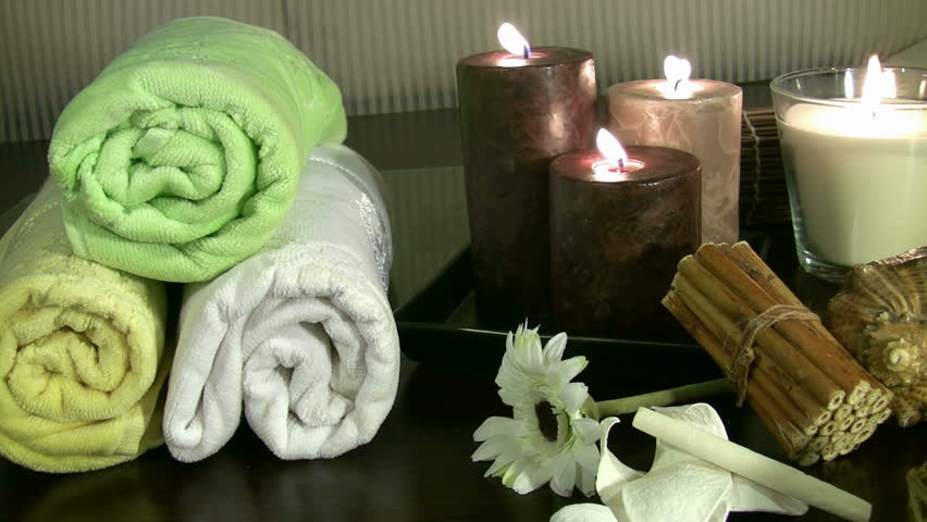 Spa products - HD stock footage clip
