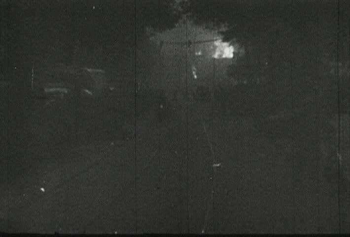 EUROPE - CIRCA 1942-1944: World War II, Burning Buildings - SD stock footage clip