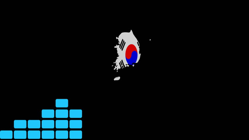 Graph with Korea map flag animation - HD stock video clip