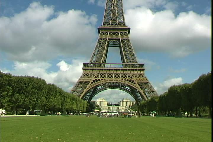 Eiffel Sd Stock Footage Clip