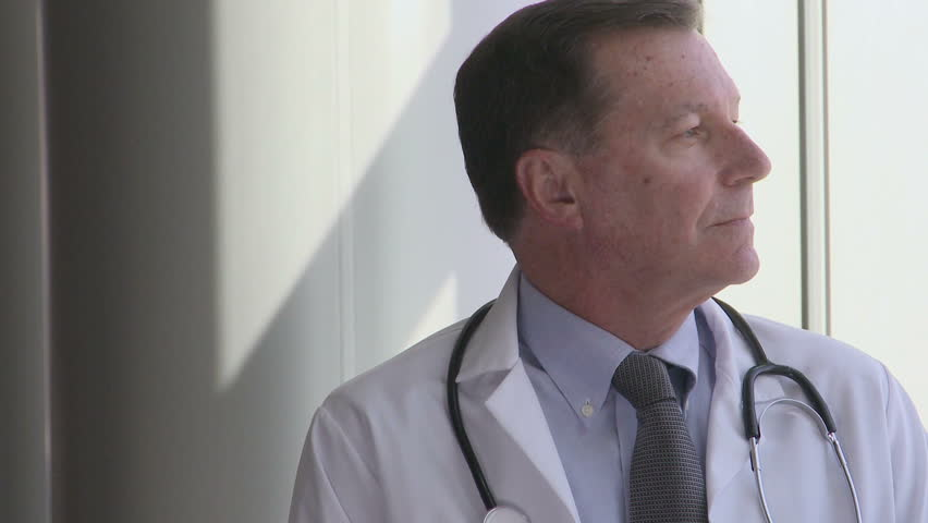 Experienced Doctor - Smiling (3 of 3) - HD stock footage clip
