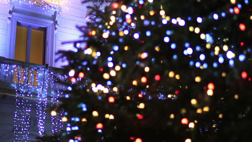 Christmas in Rome - Christmas tree - HD stock footage clip