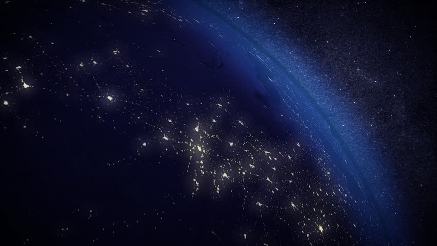 Cinematic and very realistic sunrise seen from space. #2081300