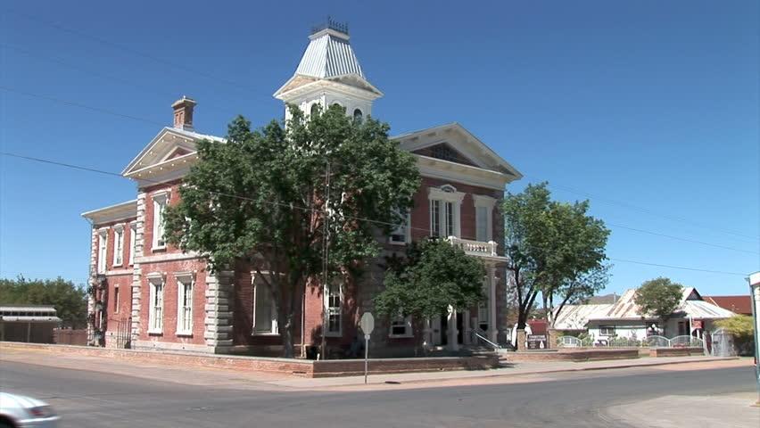 TOMBSTONE, ARIZONA - CIRCA 2011: Tombstone courthouse - HD stock video clip