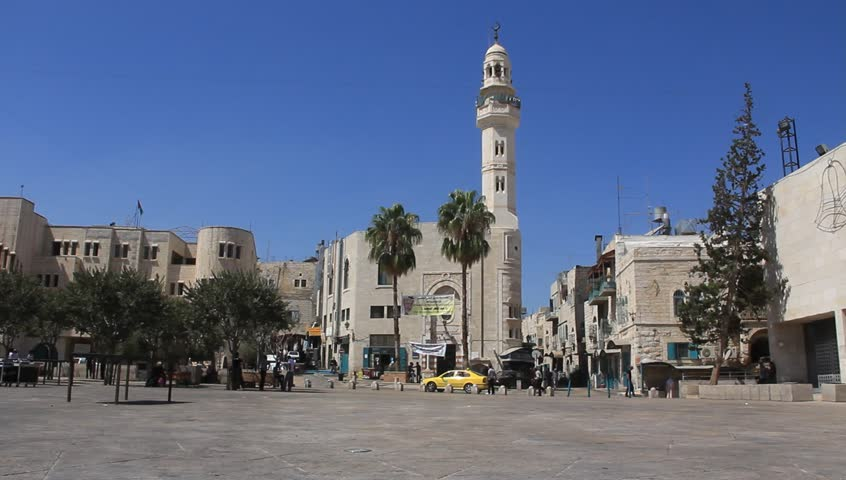 A mosque in Bethlehem, Israel - HD stock video clip