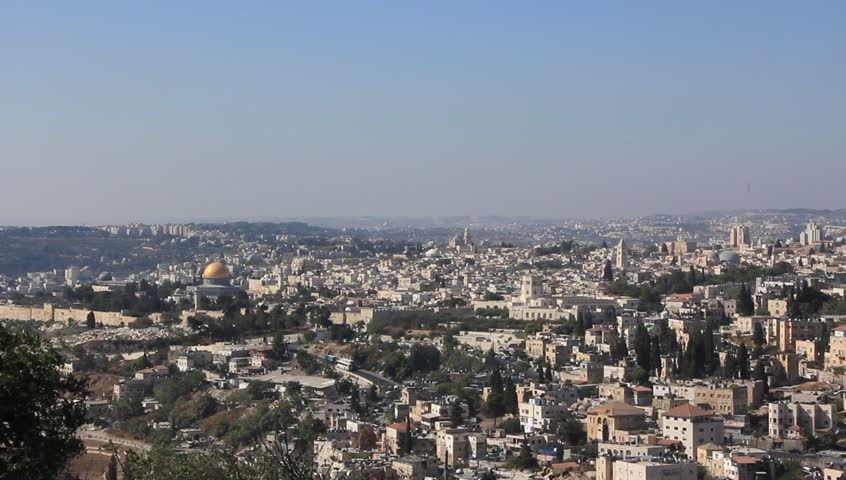 View of the city of Jerusalem - HD stock footage clip