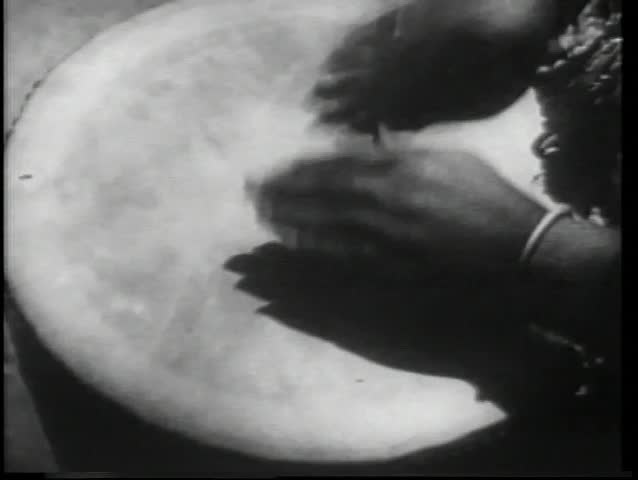 Close-up hands beating drum - SD stock footage clip